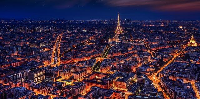 Night Eiffel Tower France Night Paris City Paris